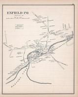 Enfield Town, New Hampshire State Atlas 1892 Uncolored
